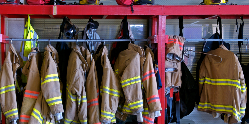 Image of fire fighter uniforms