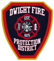 Dwight fire fighter badge